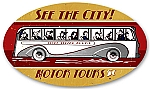 Motor Tours Vintage Metal Sign