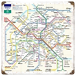 Paris Metro Vintage Metal Sign