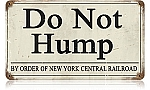 Do Not Hump Vintage Metal Sign