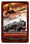 Trans Siberian Express Vintage Metal Sign