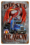 Diesel Dragon Vintage Metal Sign