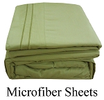 Sage Green Color, Microfiber Sheets, King Size,  Deep Pocket