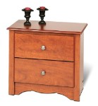 Cherry 2-drawer Night Stand By Prepac