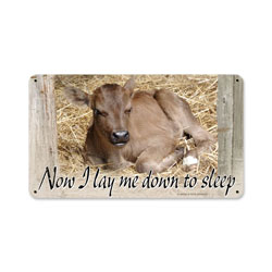 Baby Calf Vintage Metal Sign