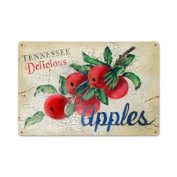 Washington Apples Vintage Metal Sign