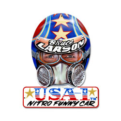 Bruce Larson USA Vintage Metal Sign