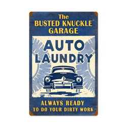 Auto Laundry Vintage Metal Sign