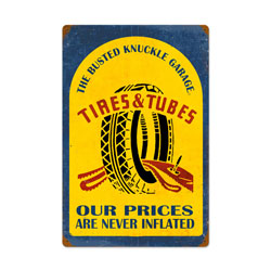 Tire Repair Vintage Metal Sign