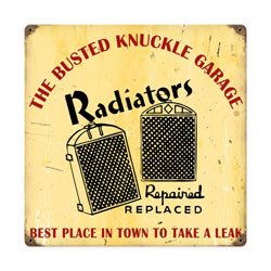 Radiator Repair Vintage Metal Sign