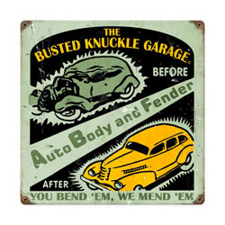 Auto Body Shop Vintage Metal Sign