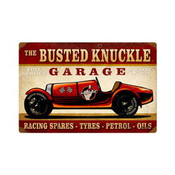 Vintage Race Car Vintage Metal Sign