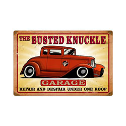 Busted Knuckle Garage Vintage Metal Sign