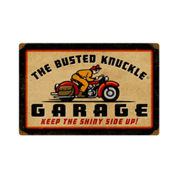 Retro Rider Vintage Metal Sign
