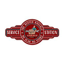 Service Station Vintage Metal Sign