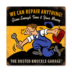 We Can Repair Anything Vintage Metal Sign