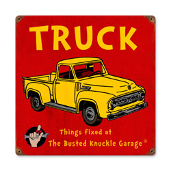 Kids Truck Vintage Metal Sign