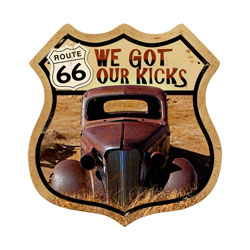 Route 66 Rusty Vintage Metal Sign