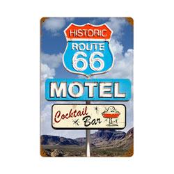Route 66 Cocktail Vintage Metal Sign