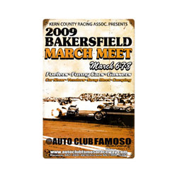 Bakersfield March Meet 2009 Vintage Metal Sign