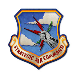 Strategic Air Command Vintage Metal Sign