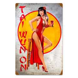 Tai Wun On Vintage Metal Sign