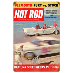 Daytona Vintage Metal Sign