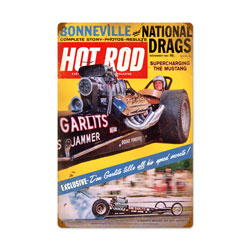 Garlits November 1964 Vintage Metal Sign