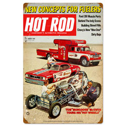 August 1970 Hot Rod Vintage Metal Sign