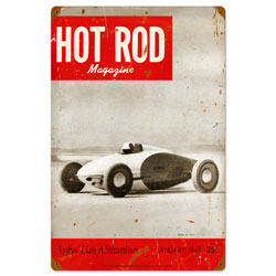 January 1949 Hot Rod Vintage Metal Sign