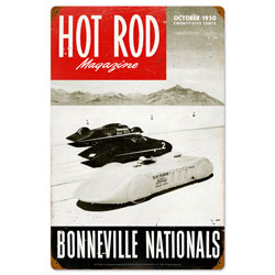 Bonneville Nationals Vintage Metal Sign