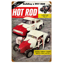 May 1954 Hot Rod Vintage Metal Sign