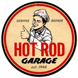 Hot Rod Garage Vintage Metal Sign