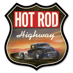 Hot Rod Highway Vintage Metal Sign