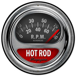 Hot Rod Tach Vintage Metal Sign