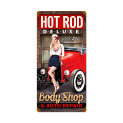 Body Shop Vintage Metal Sign