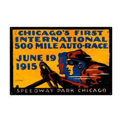 Chicago 500 Vintage Metal Sign