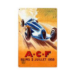 ACF Reims Vintage Metal Sign