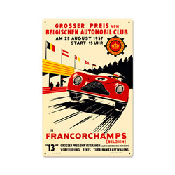 Francorchamps Vintage Metal Sign