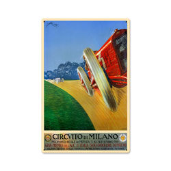 Milan Grand Prix Vintage Metal Sign