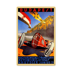 Budapest Grand Prix Vintage Metal Sign