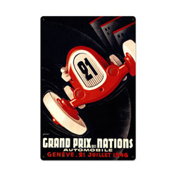 Nations Grand Prix Vintage Metal Sign
