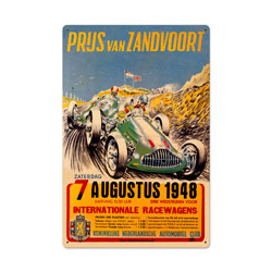 Zanvoort Grand Prix Vintage Metal Sign