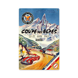 Coupe Des Alpes Vintage Metal Sign