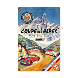 Co0upe Des Alpes Vintage Metal Sign