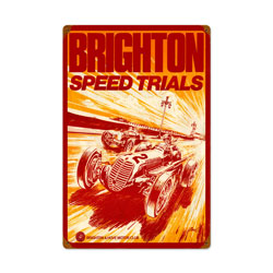 Brighton Speed Trials Vintage Metal Sign