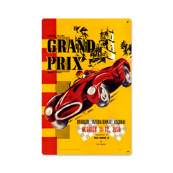 Riverside Grand Prix Vintage Metal Sign