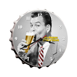 Beer O'Clock Vintage Metal Sign Clock