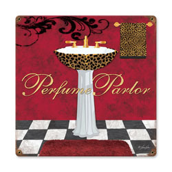 Perfume Parlor Vintage Metal Sign