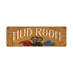 Mud Room Vintage Metal Sign