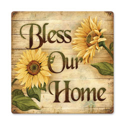 Bless Home Vintage Metal Sign